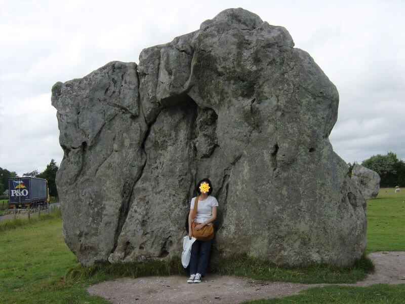 one big stone at Avebury stone circle