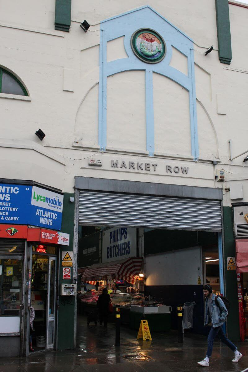 The entrance of Market Row in Brixton