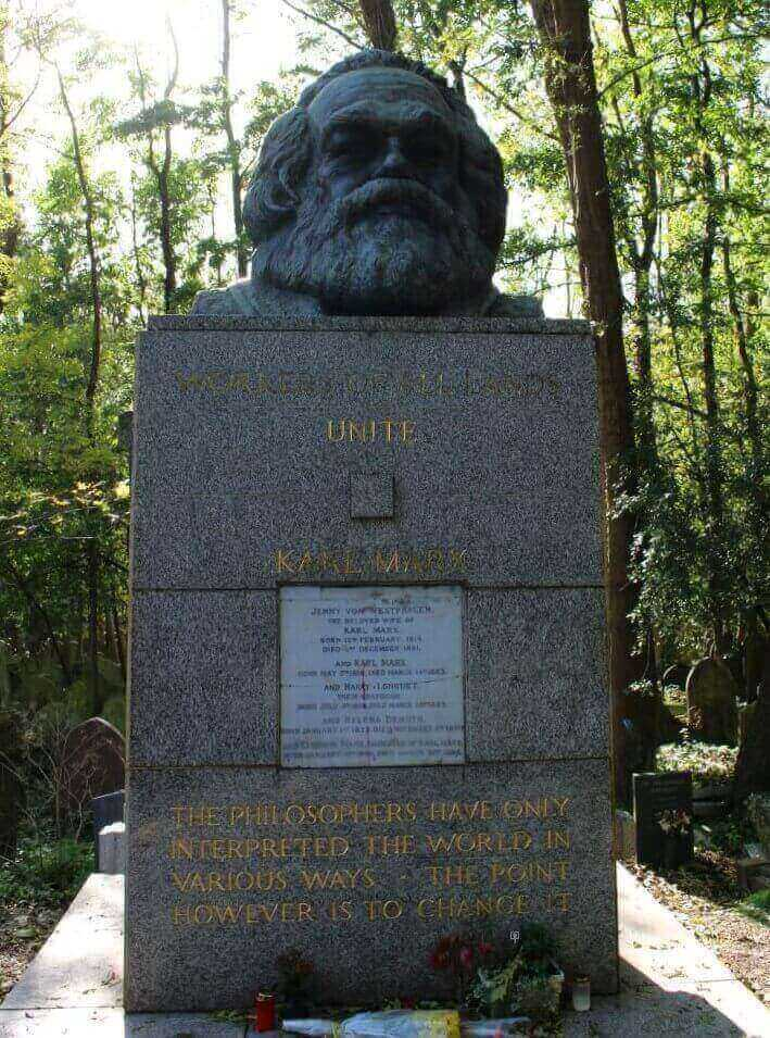 The tomb of Karl Marx at Highgate Cemetery East