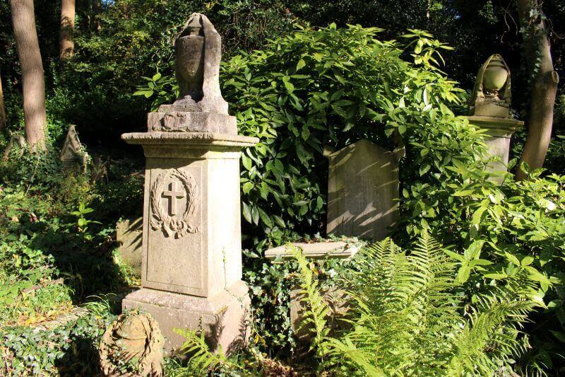 The first tomb in Highgate Cemetery West