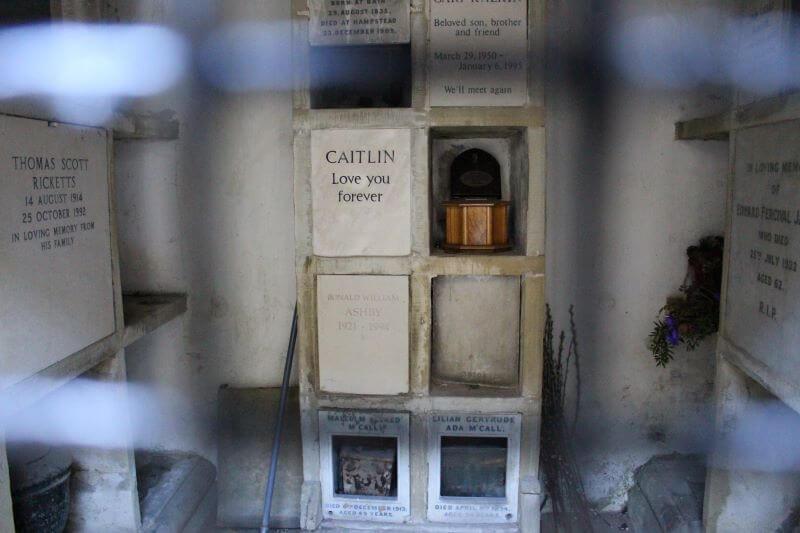 Columbarium in the circle of Lebanon in Highgate Cemetery West