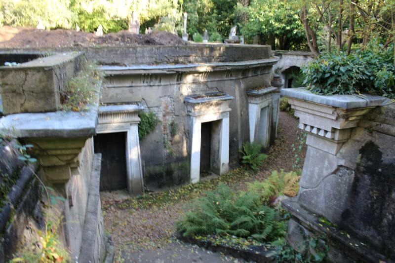 The Circle of Lebanon in Highgate Cemetery West