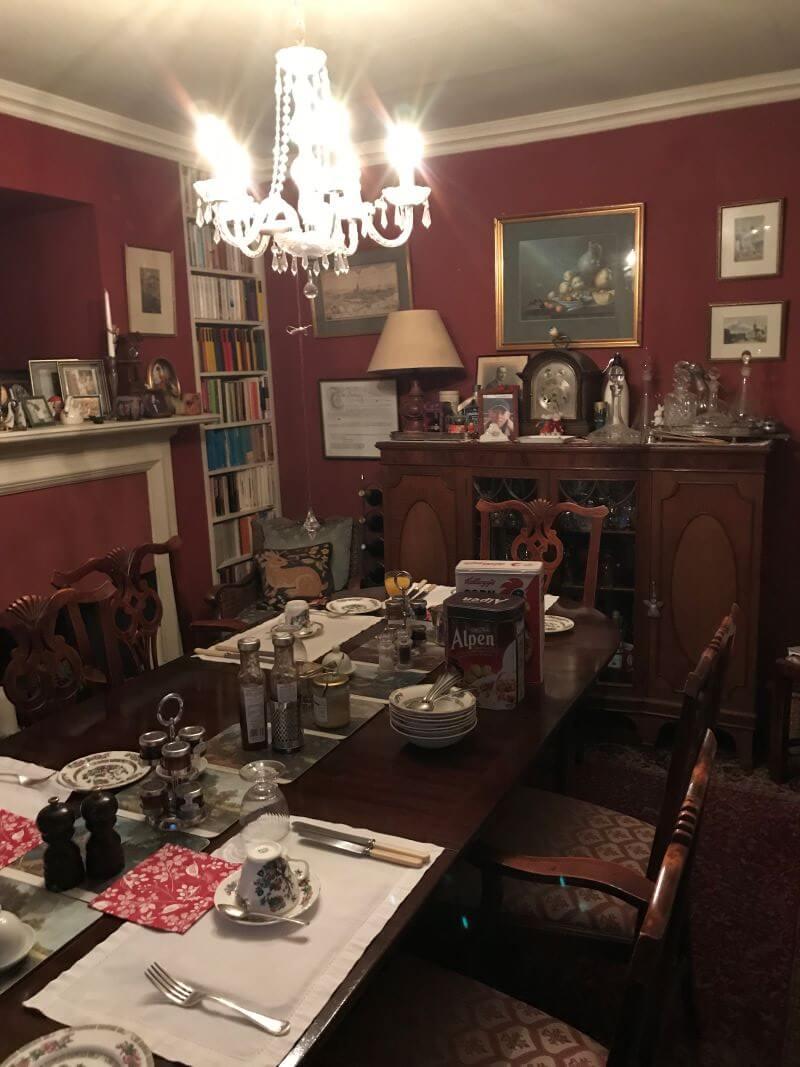 Breakfast room in Iolanthe B&B