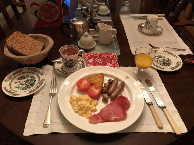 English breakfast at Iolanthe