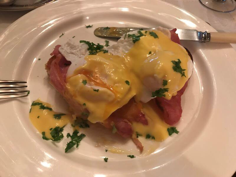 Egg Benedict at Iolanthe