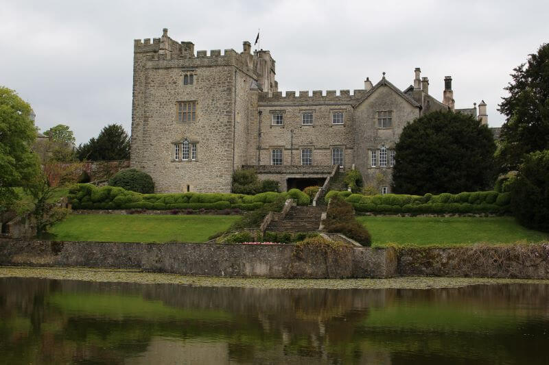 Sizergh Castle from the Lake in the garden