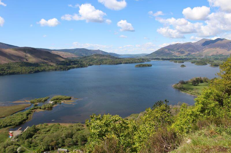 Derwentwater and Bassenthwaite Lake from Surprise View