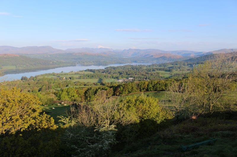 North shore of Windermere from Orrest Head