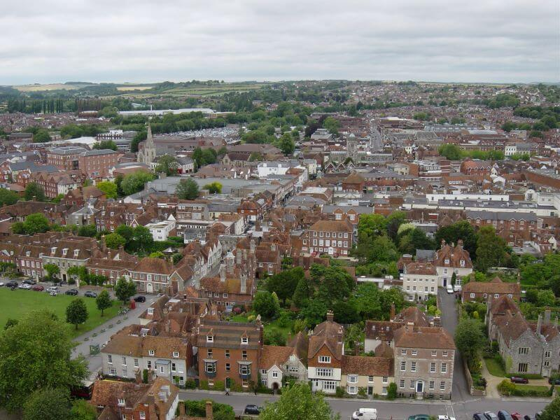View from Salisbury Cathedral