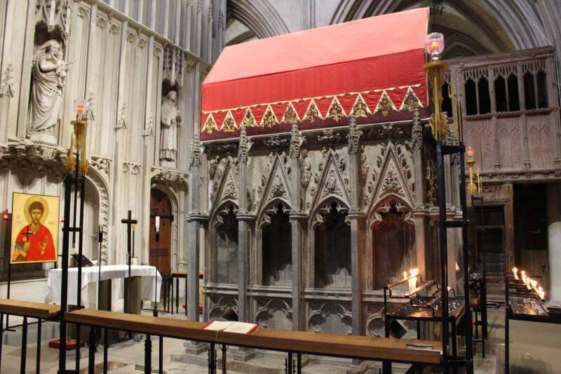 The shrine of St Alban in St Albans Cathedral