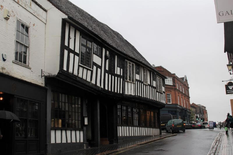 Tuder Style houses on George Street in St Albans