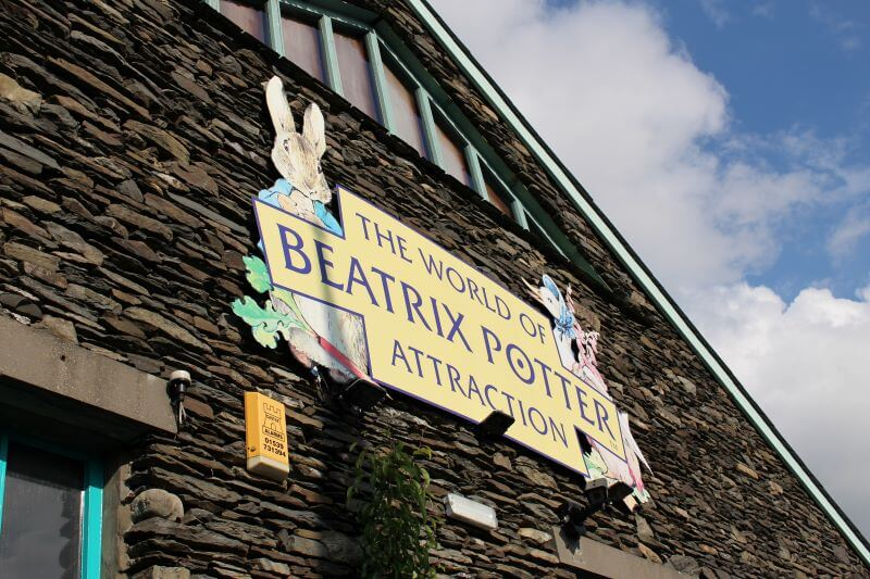 The World of Beatrix Potter sign