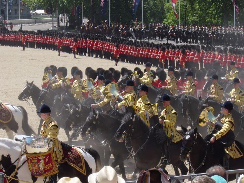 Trooping the Colour reviewed by the Prince of Wales
