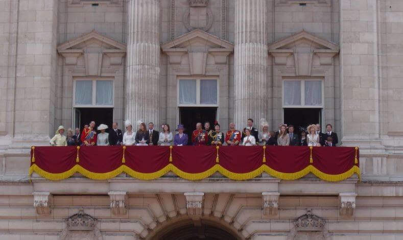 Royal family public appearance on the balcony of Buckingham Palace