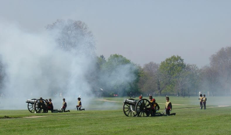 Gun Salutes in Hyde Park on 21st April