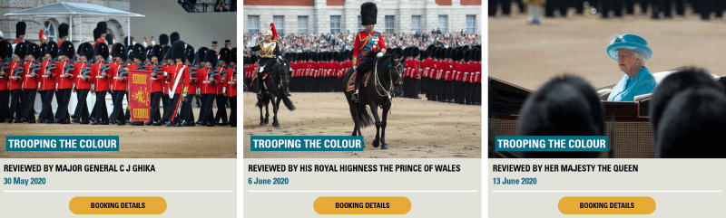 Trooping the colour Ticket Booking Site