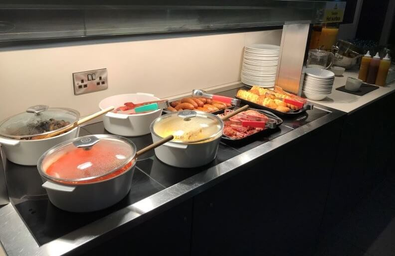 hot food buffet at ibis Manchester Centre Princess Street
