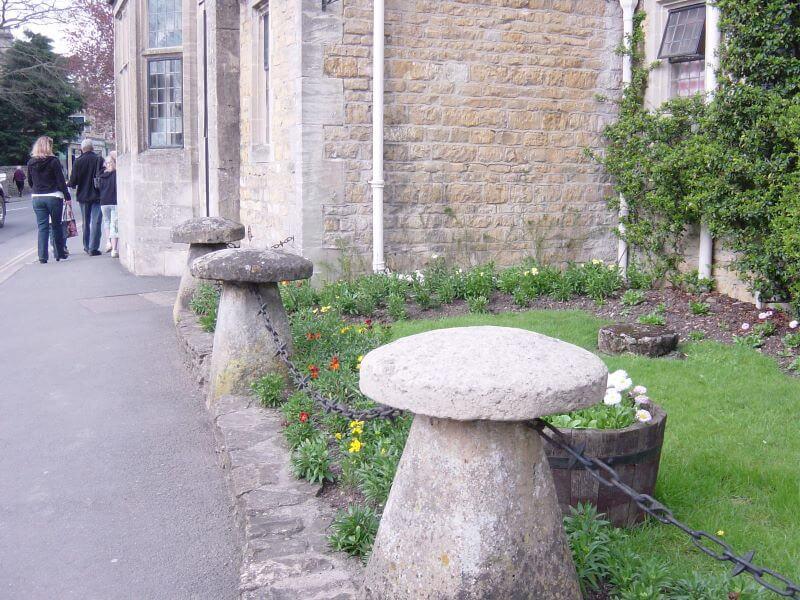 mashroom stones at Bourton-on-the-Water