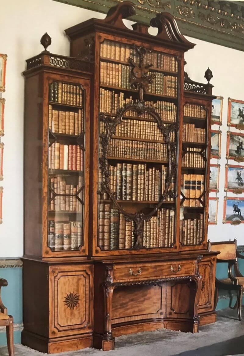 The Violin Bookcase at Wilton House