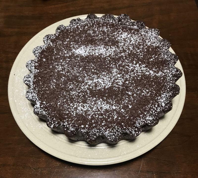 double chocolate truffle tart