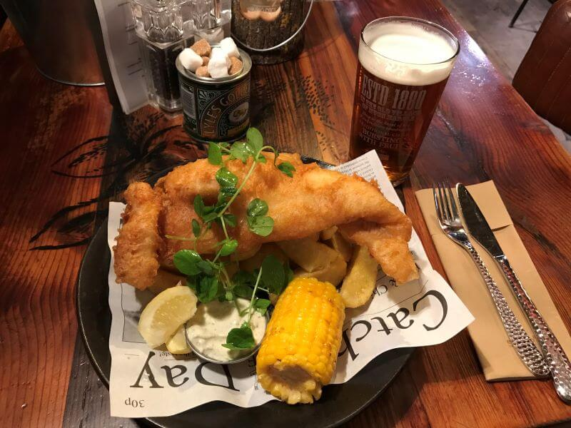 fish & chips at Pigs, Windermere