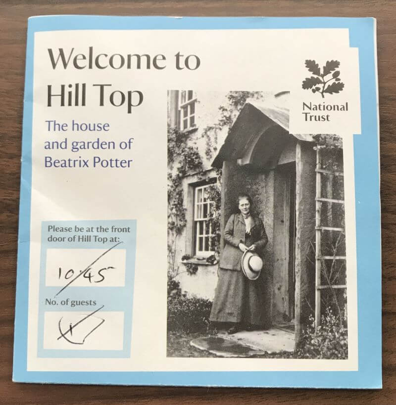 entrance ticket of Hill Top