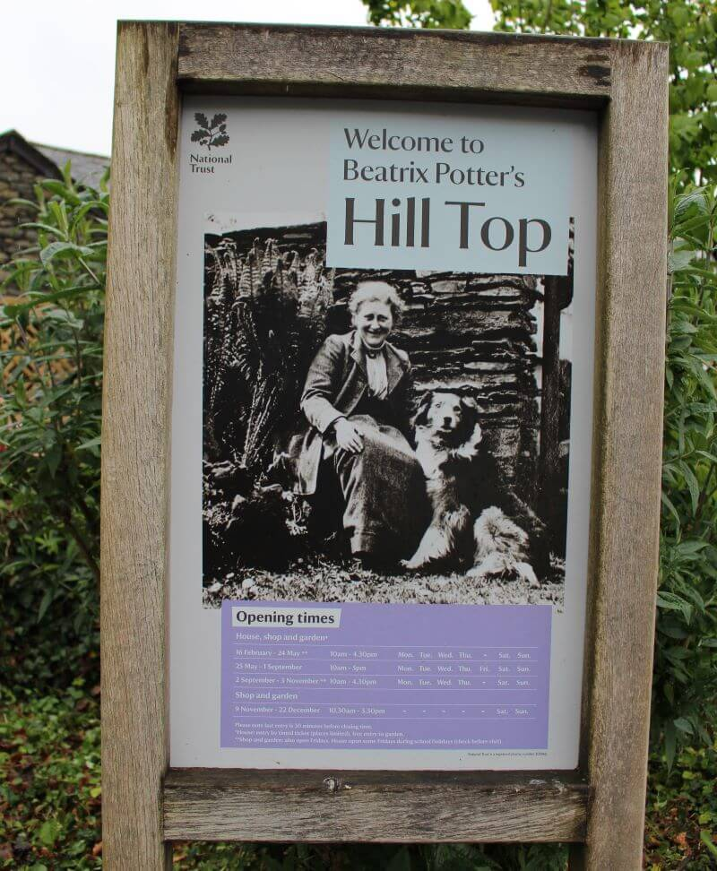 Sign of Hill Top