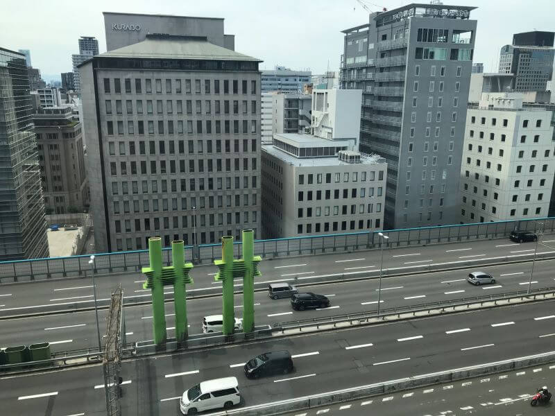 View from the window of a king room at Courtyard by Marriott Osaka Hommachi