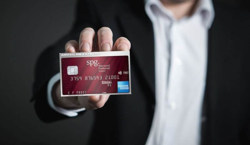 a man has SPG Amex card