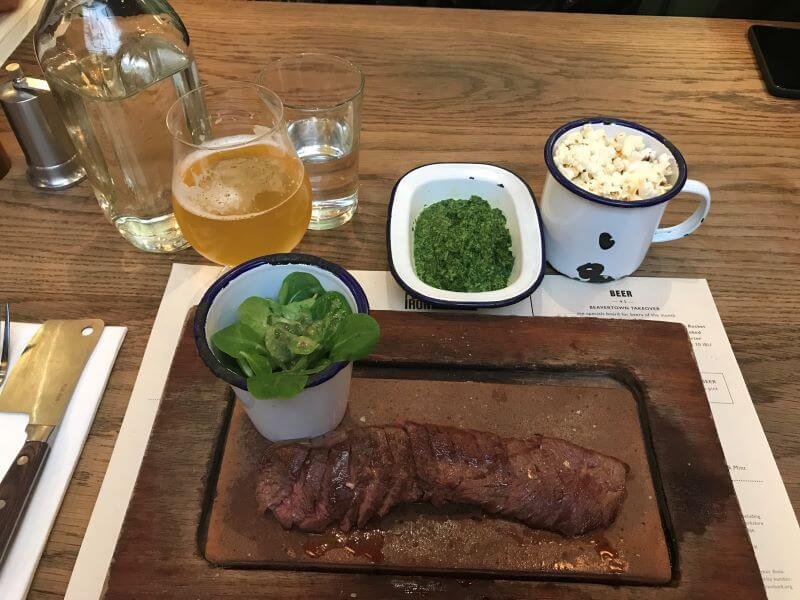 Flat Iron Steak and Creamy Spinach