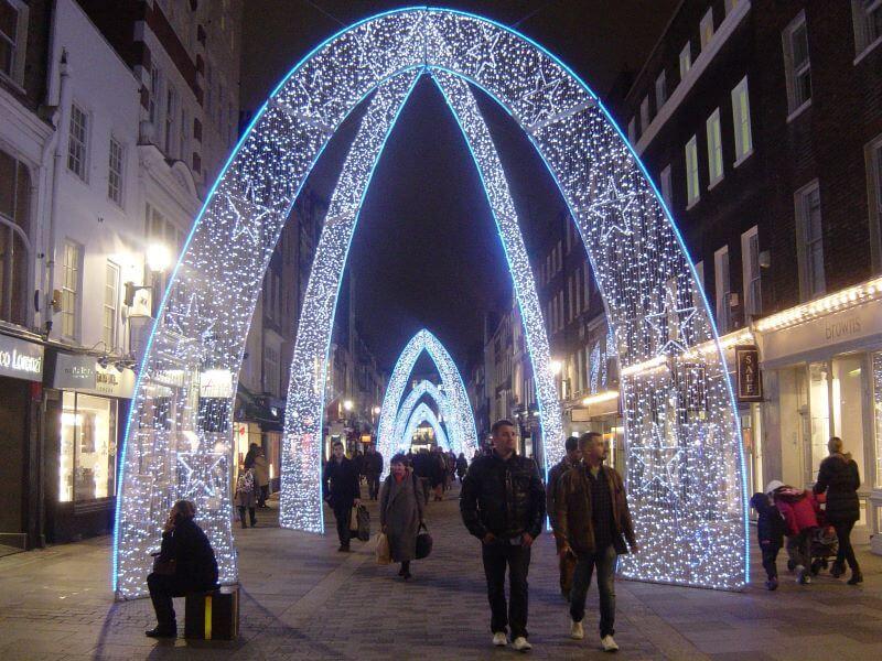 Christmas illumination on Bond Street
