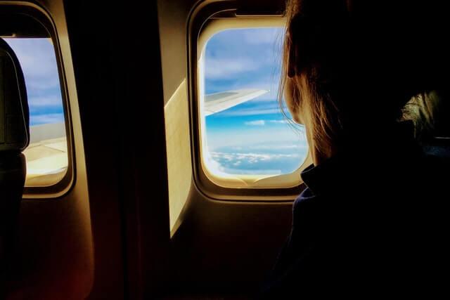 window of airplane